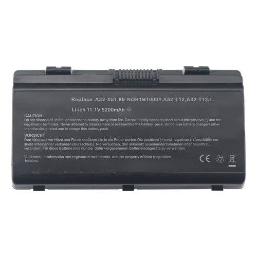 Replacement Laptop Battery for ASUS A32-X51 A32-T12 T12C T12ER X51H X51L X51C X58L X58LE Li-ion 6 Cell 11.1v 5200mAh/58WH 1_4