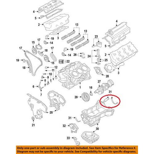 Nissan 11121-31U00 Oil Pan Gasket_2