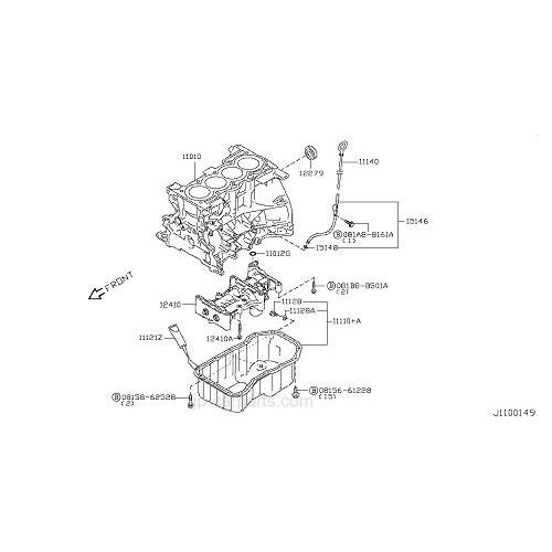 Nissan 11128-51n00 oil drain plug