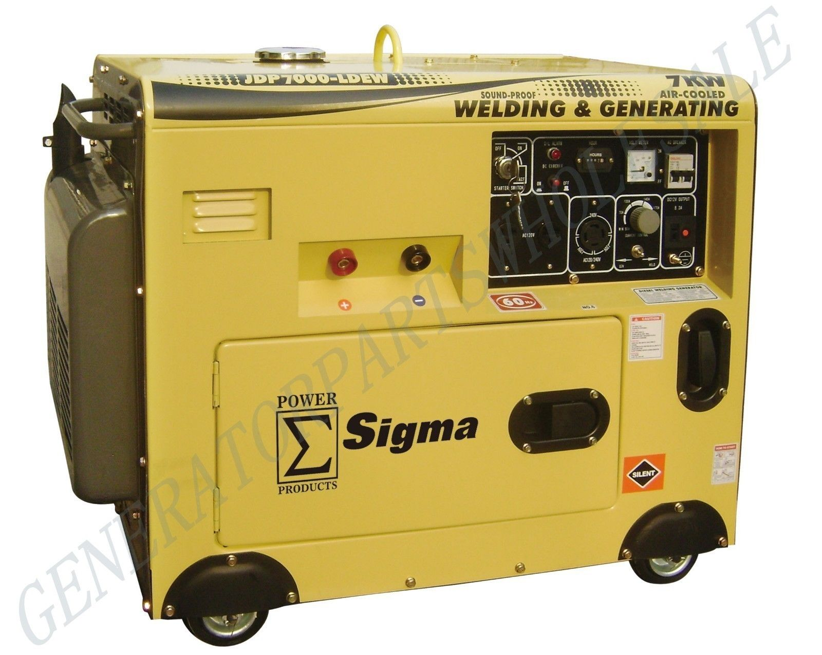 7000 Watt Silent Diesel Welding Generator Electric Start / JDP7000-LDEW_2