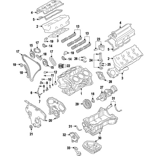 Nissan 13085-ey00a genuine oem chain guide