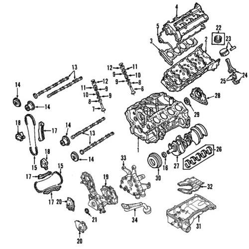 Nissan 13091-7s012 genuine oem chain guide