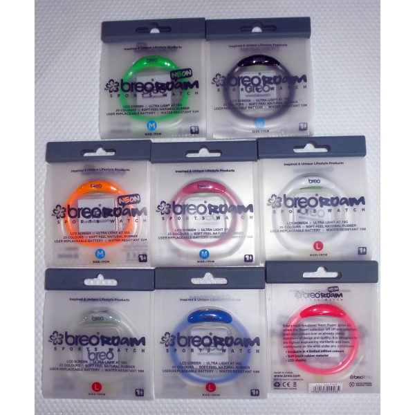 Lot of 436 breo roam watch! mix color and size