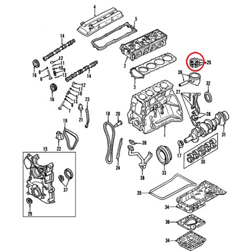 Nissan 12033-ZB00A Piston Ring Set_2
