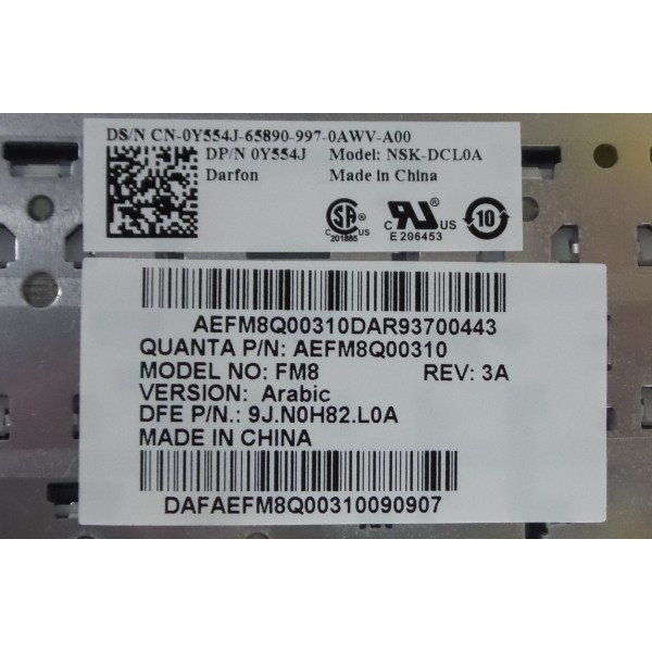 Dell 9J.NOH82.L01 Keyboard_3