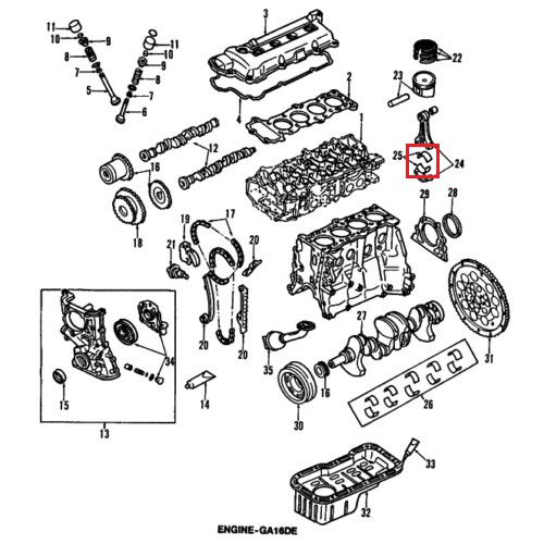 Nissan 12111-4m50a bearings