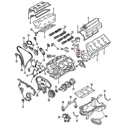 Nissan 12111-JK20A Connecting Rod Bearing_2