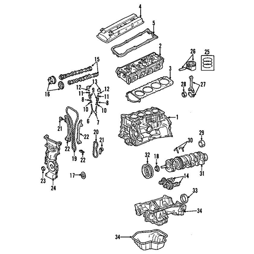 Nissan 12117-ja00a bearing-connect