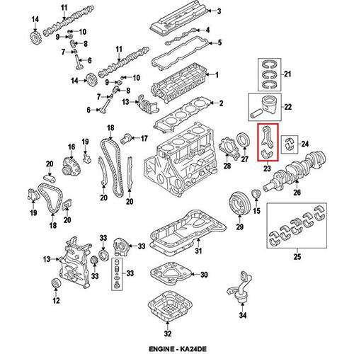 Nissan 12207-40F03 Main Bearing_2