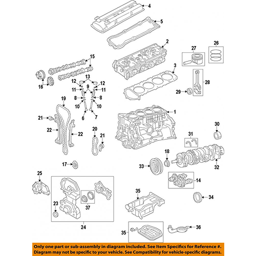 Nissan 12207-ja00a crankshaft main bearing