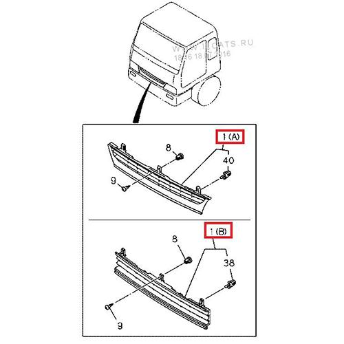Isuzu 1-71118766-1 radiator grille