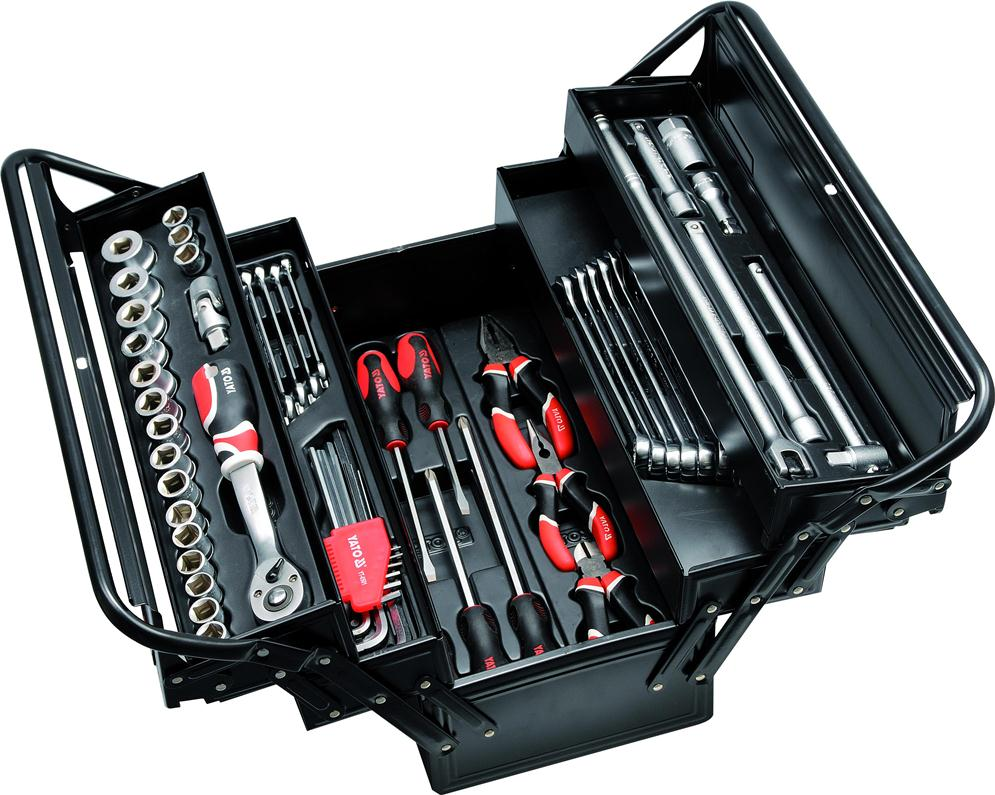 Metal Tools Box with 64pcs Hand Tools Sets_3