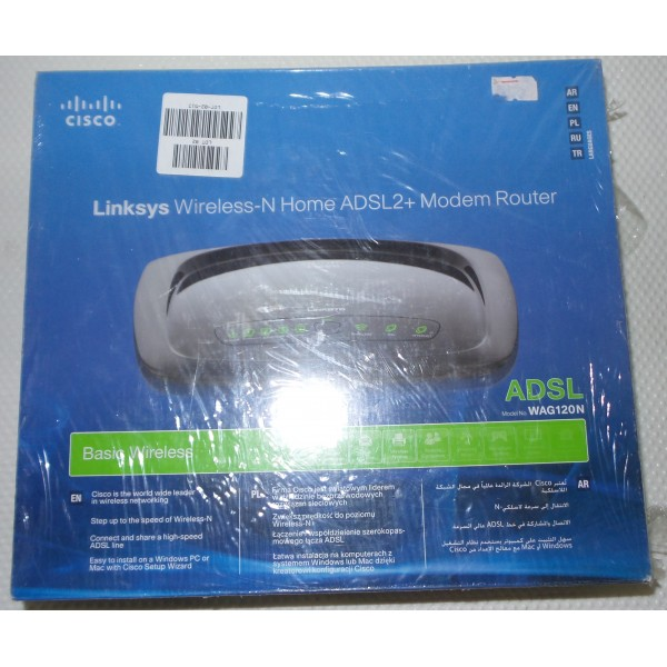Modem router adsl2+ annex-a cisco linksys wireless-n wag120n