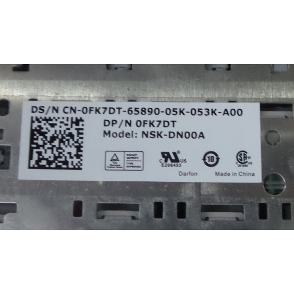 Dell PN: 0FK7DT NSK-DN00A Keyboard_3