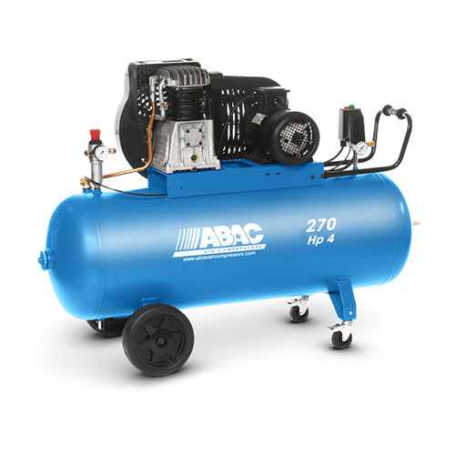 270 ltr air compressor b4900/270ct4 , abac italy