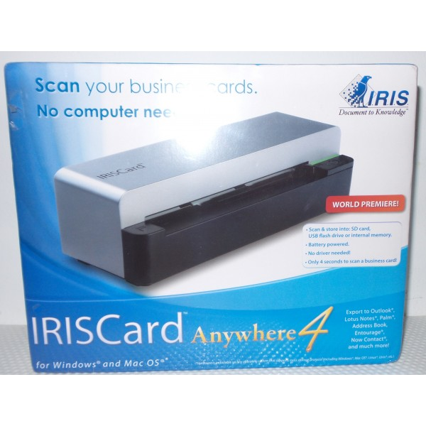 IRISCard Anywhere 4 Color Business Card Scanner Reader_2