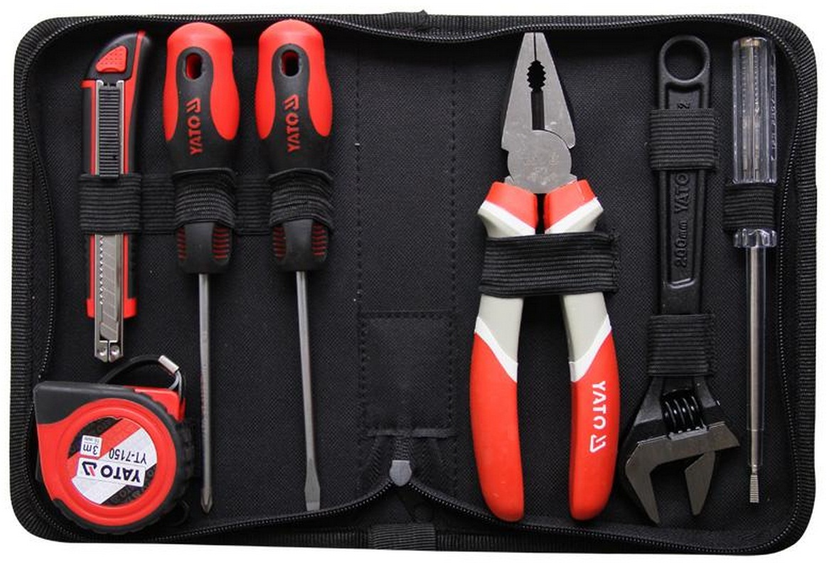 Yato tool set 7pcs in pouch  yt-39006