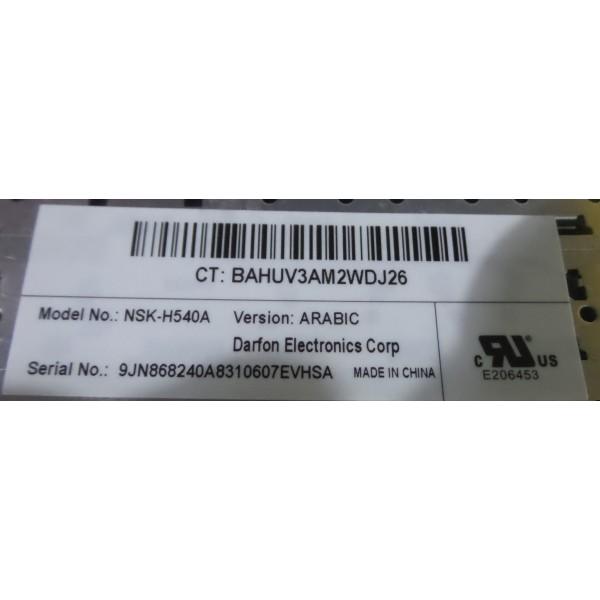 HP COMPAQ CQ50 KEYBOARD NSK-H540A_3