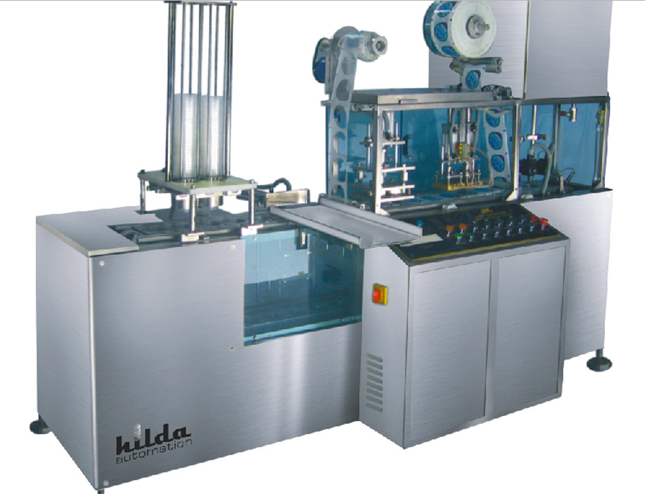 Linear 2 head / nozzle, cup rinsing, filling & sealing machine