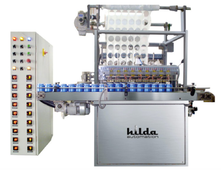 Container sealing and cutting machine
