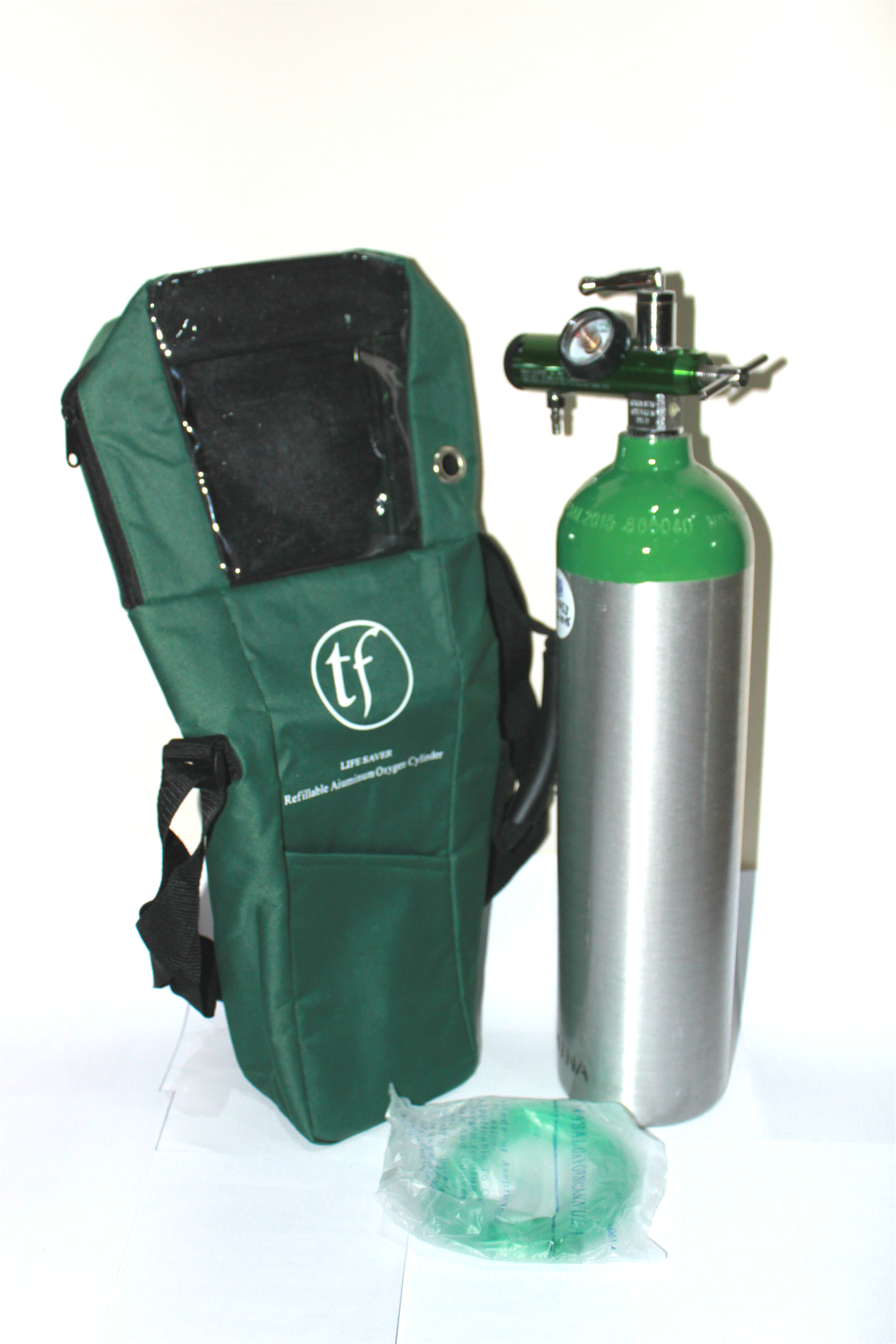 3L medical oxygen cylinder with portable bag