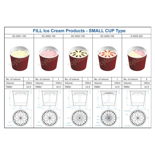 Ice cream equipment cup