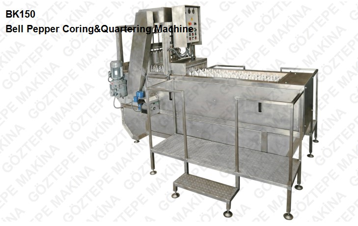 Bk 150 bell pepper coring and quartering machine