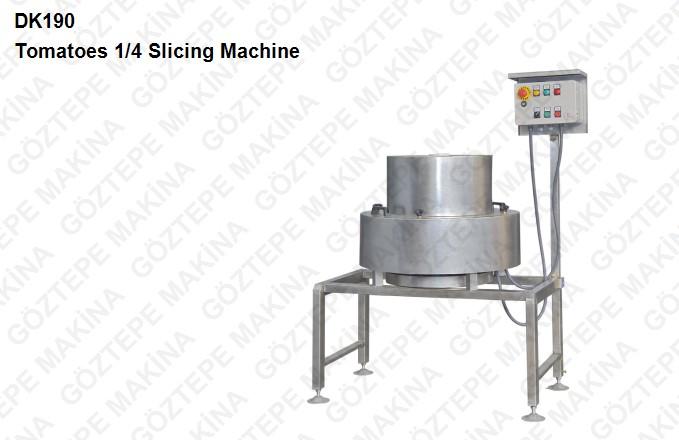 Dk 190 tomatoes ¼  slicing machine