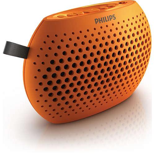 Philips orange portable speaker sbm100org/00
