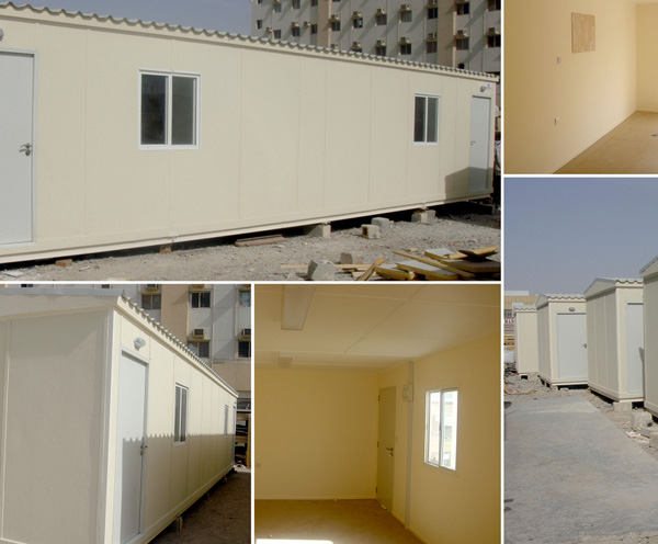 40' x 12' open plan fire rated porta cabins