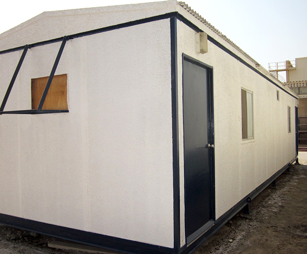 40' x 12' 2 room with toilet  open plan standard porta cabins