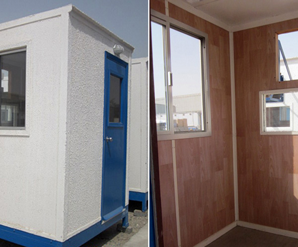 6' x 6' open plan security cabins