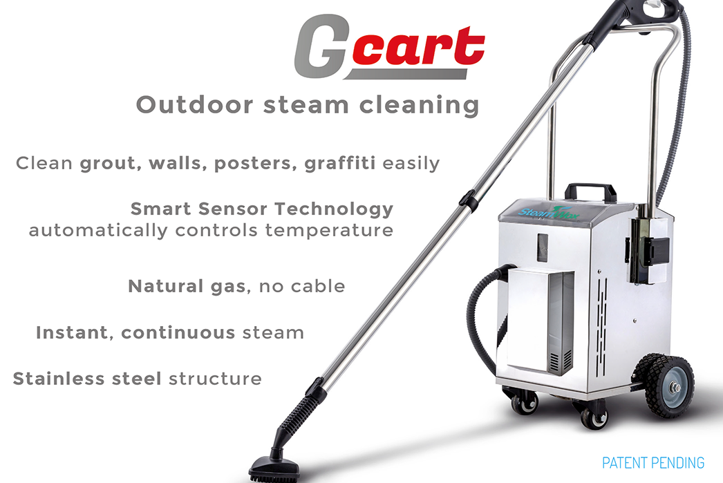 Gcart outdoor steam cleaning system