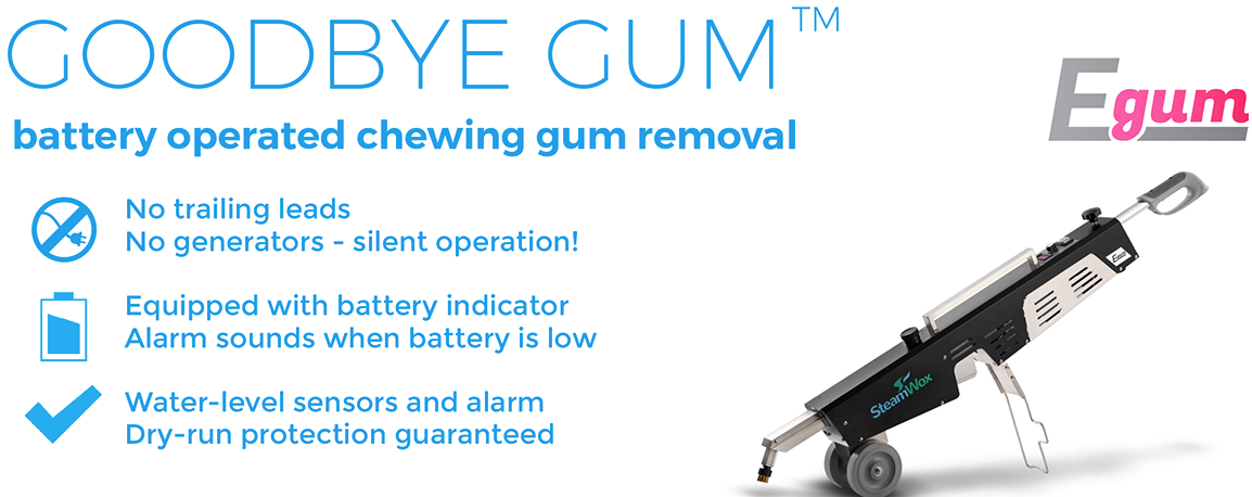 E-gum battery operated chewing gum removal machine