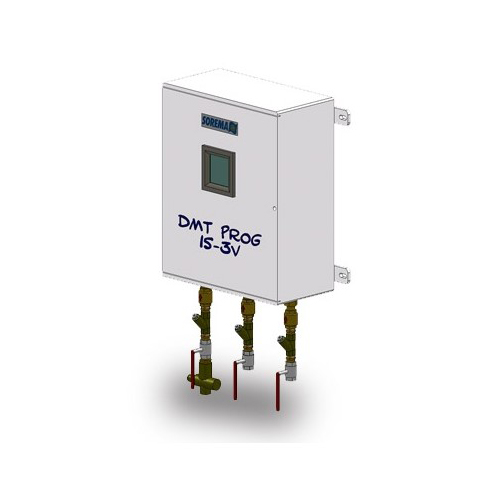 Automatic water meter with programmable hot/cold water mixing