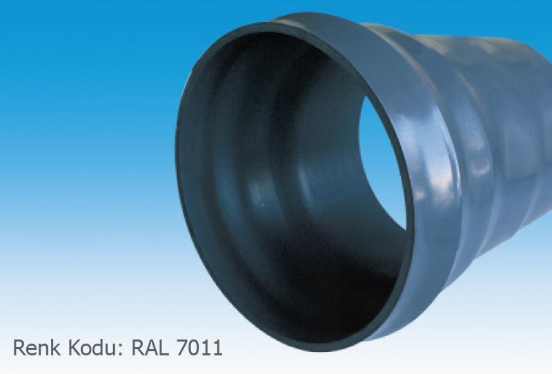 Pvc_u pipe (socket joint) (ral 7011)