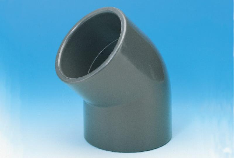 Pvc_u pressure pipe systems - elbow(solvent cement joint) 45