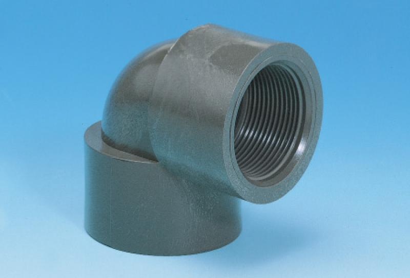Pvc_u pressure pipe systems -threaded elbow 90º
