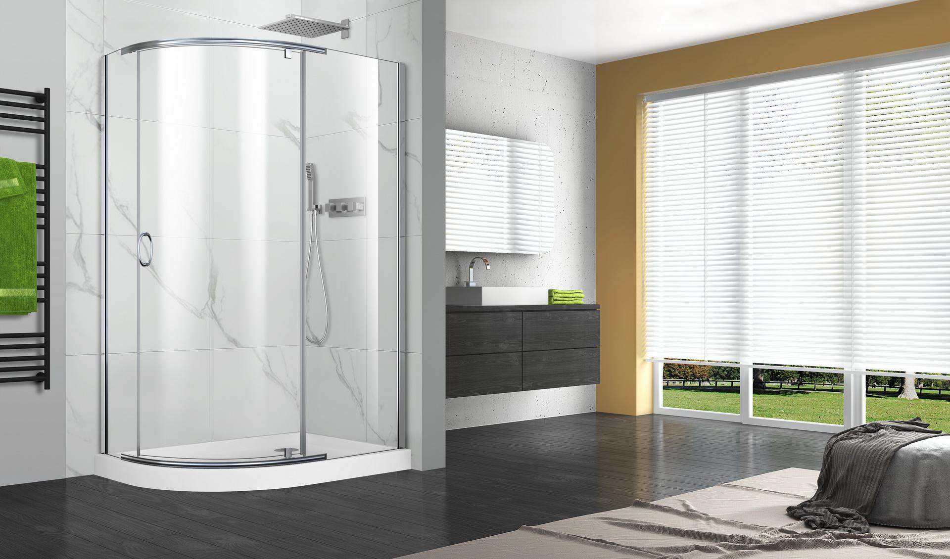 P02qo01 pivot series shower doors