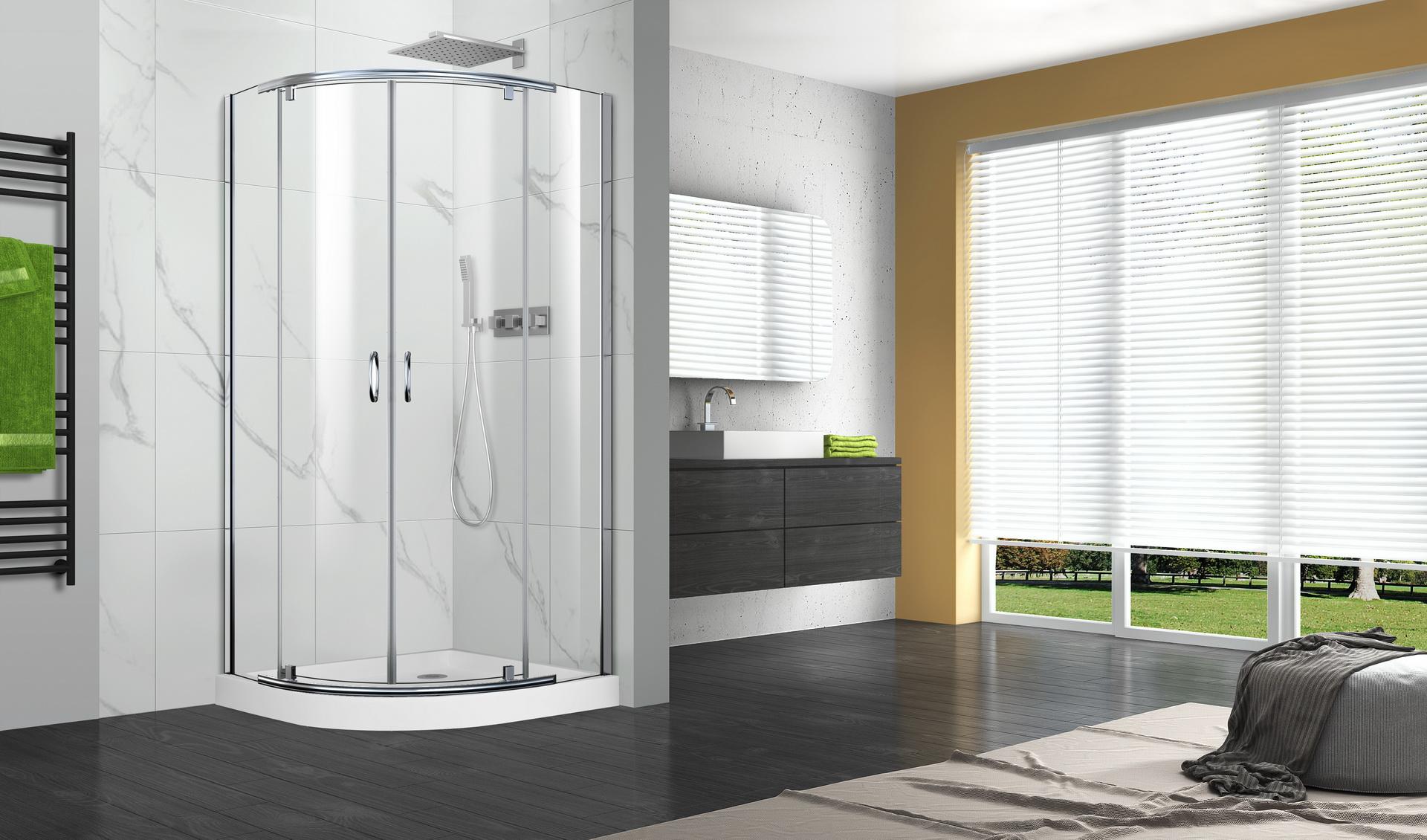 P02qr01 pivot series shower doors