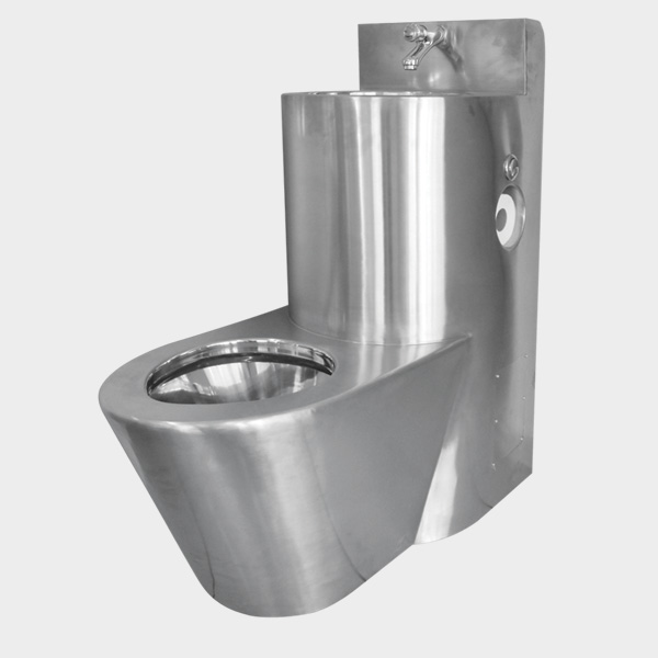 Nrm-5000 stainless steel combination toilet + sink