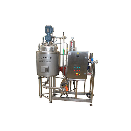 Powder finishing tank for dairy - cheese