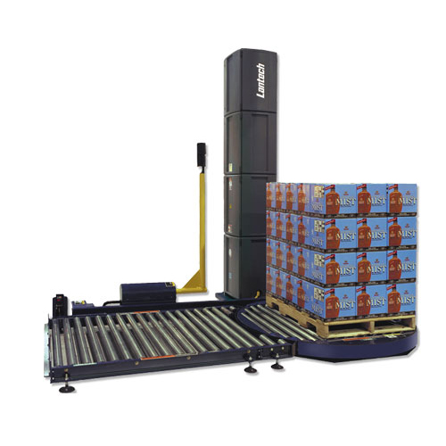 Automatic pallet stretch wrapping machines