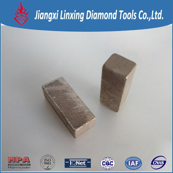 Block cutting segment for marbel