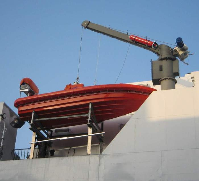 Ndsc-25mw21 slewing davit for life rafts and rescue boats