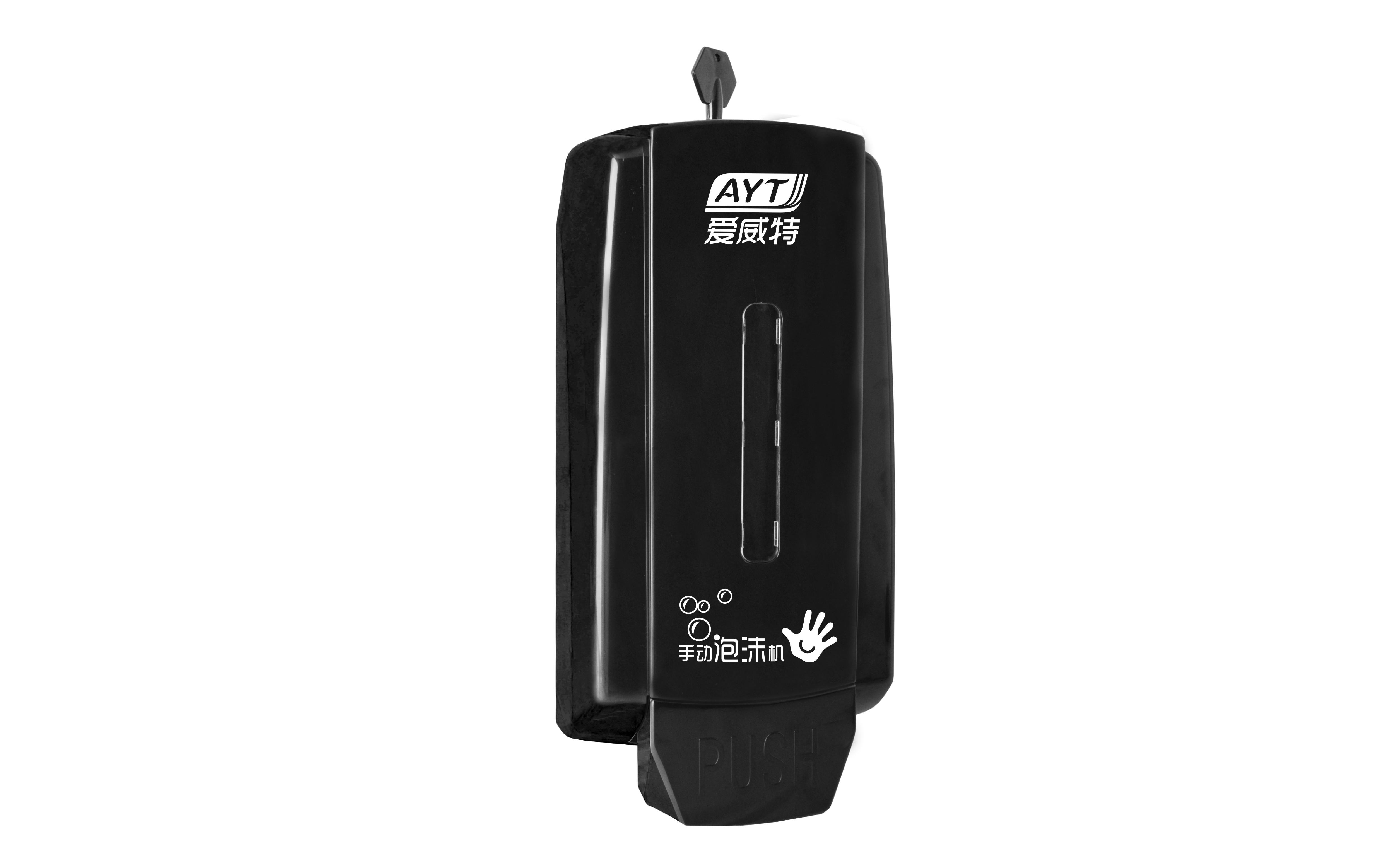 Ayt-668(black) plastic manual soap dispenser