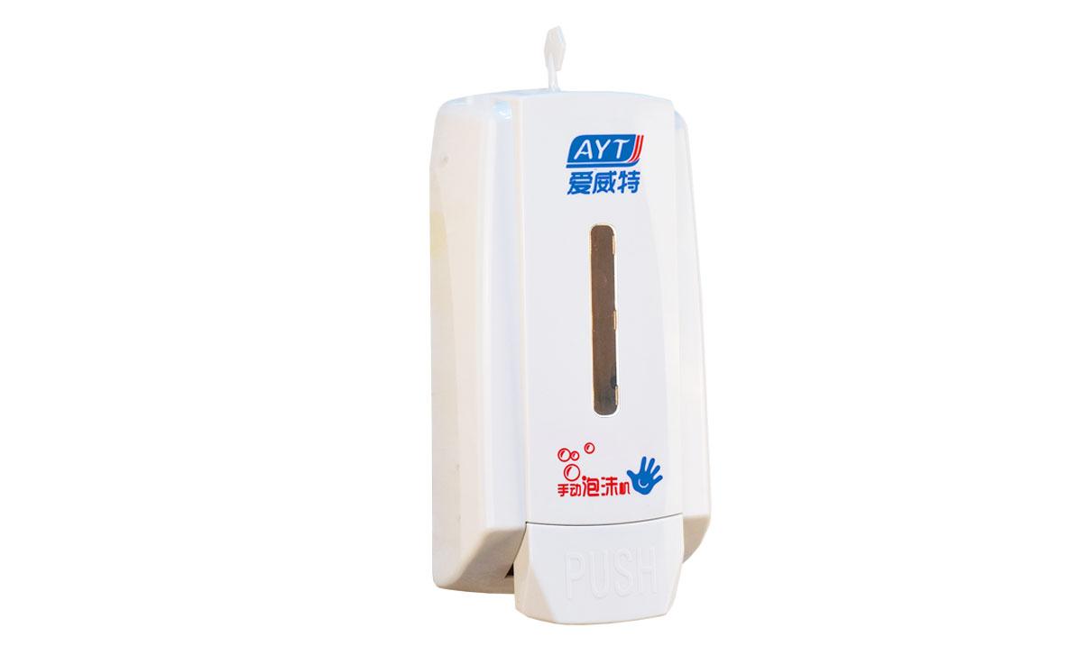 Ayt-668(white) plastic manual soap dispenser