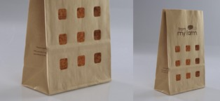 Look-through holes bags packaging
