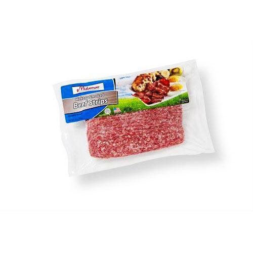Halal hickory smoked breakfast beef strips