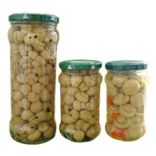 Mushrooms in jar